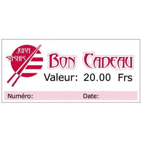 Bon Cadeau 20 francs