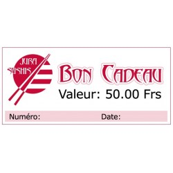 Bon Cadeau 50 francs