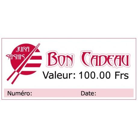 Bon Cadeau 100 francs