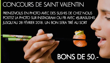 Concours Jura Sushis de Saint Valentin