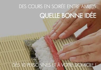 Apprenez à faire vos sushis entre amis... Des cours sympa pour faire vos sushis vous-même!